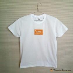 Tričko s oranžovou audiokazetou